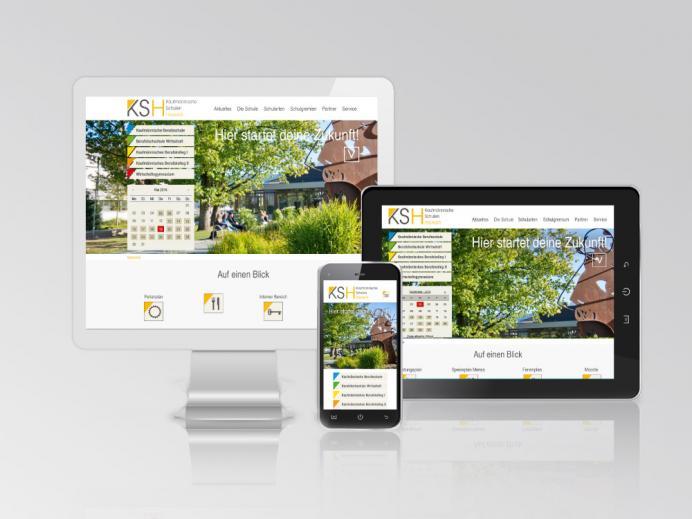 Internetseite Kaufmännische Schulen Hausach