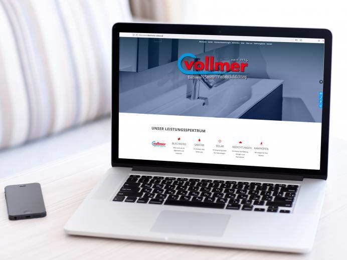 Überarbeitung der Internetseite von Blechnerei Vollmer