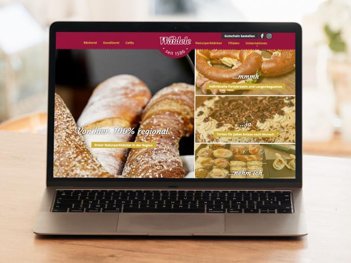 Website Bäckerei Waidele