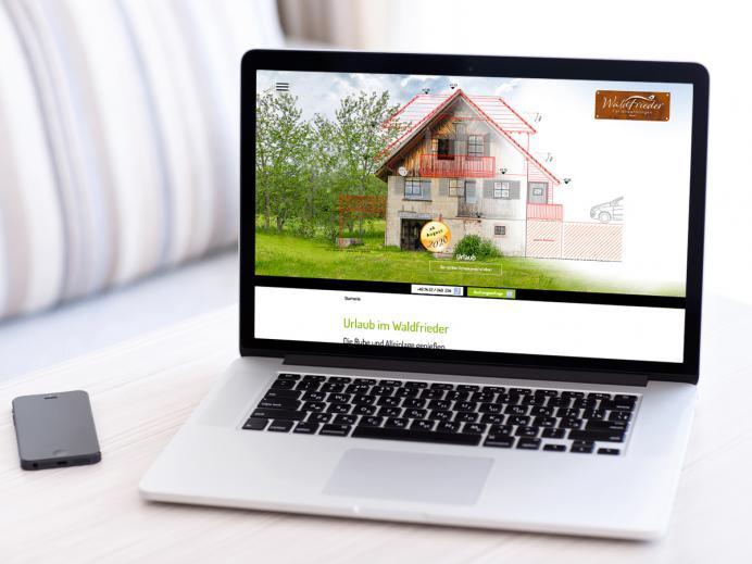 Internetseite Waldfrieder Ferienwohnungen