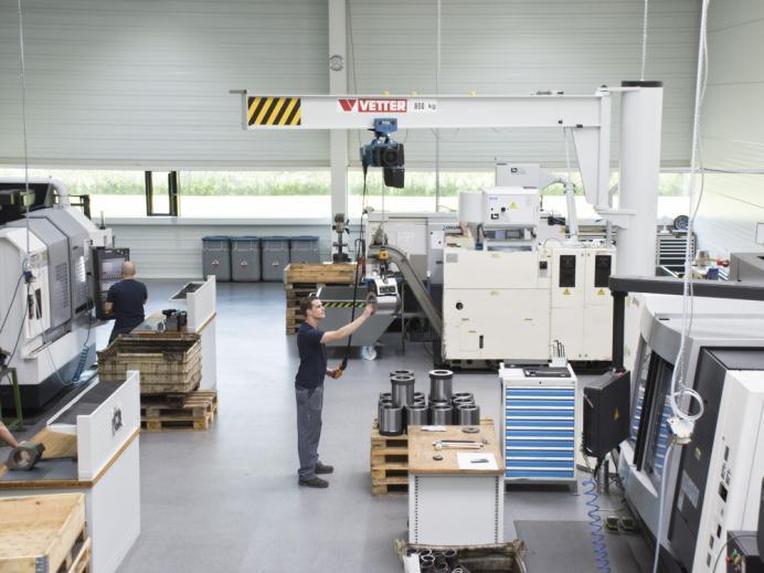HMT-PZ, Steinach, Produktionshalle