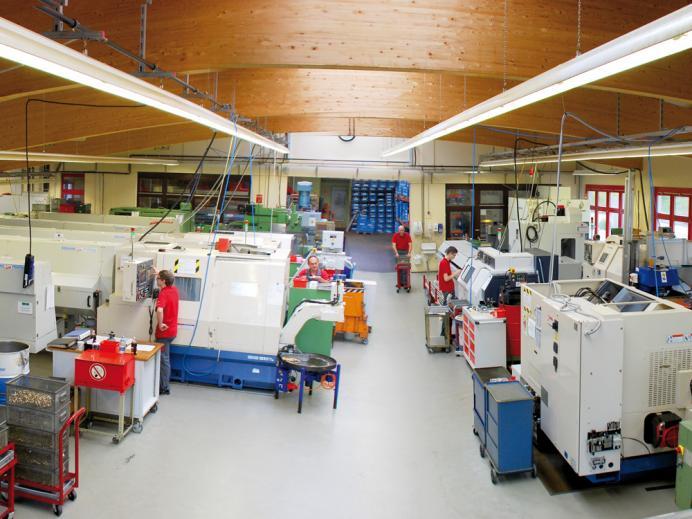 Lehmann Zerspanung, Produktionshalle