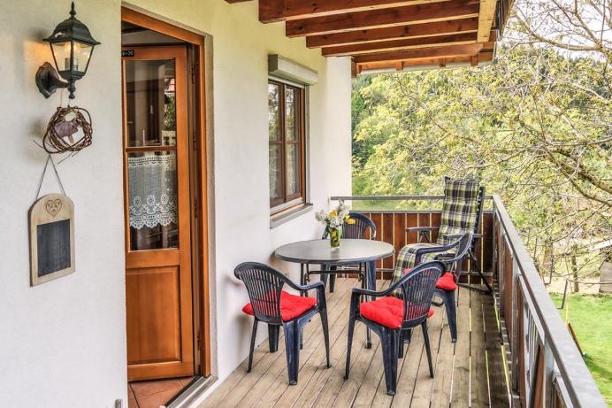 Prinzbachhof Ferienwohnung Balkon