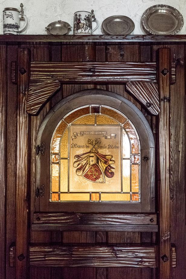 Zum weyßen Rößle, Wappen Familie Wolber