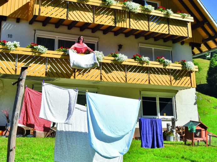 Vollmershof - Haus mit Wäsche