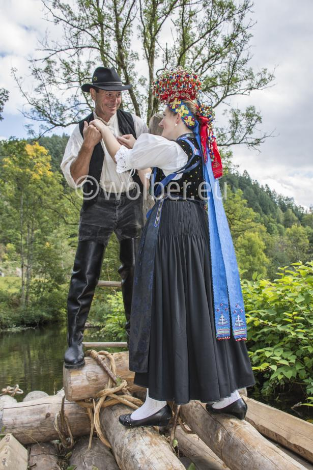 Lehengericht Tracht - Der Flößer und seine Braut