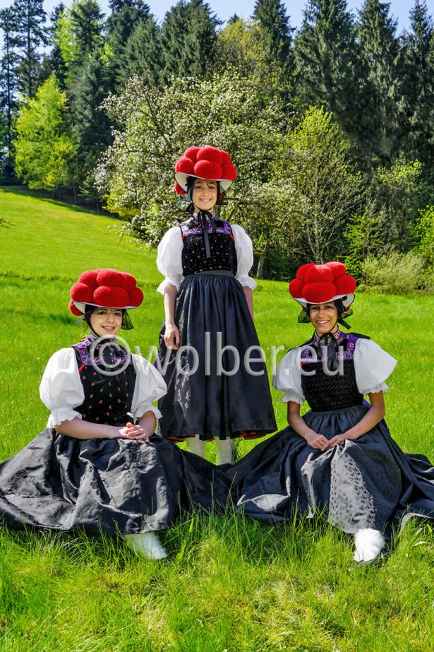 Stolz wird der Bollenhut in Kirnbach auch von jungen Damen getragen