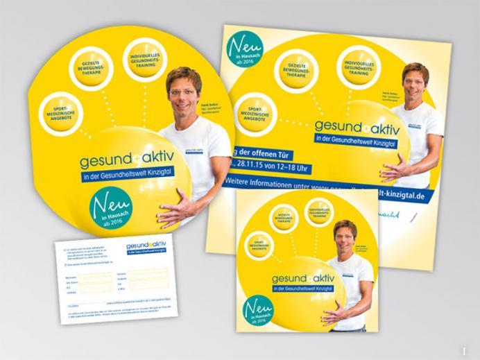Werbestrategie Gesund Aktiv - Gesundes Kinzigtal Drucksachen