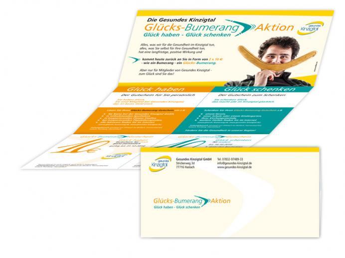 Werbestrategie Glücks-Bumerang-Aktion: Mailing