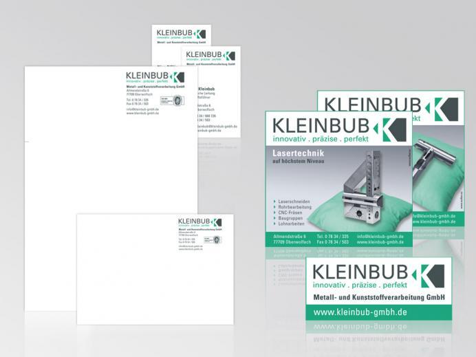 Kleinbub - Corporate Design: Logo, Anzeigen, Slogan, Briefbogen, Visitenkarten