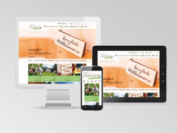 Werbestrategie Kolmenhof: Homepage Responsive Webdesign